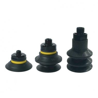 丁腈橡胶系列 - 单层扁平吸盘 1.5折 2.5折带螺母真空吸盘